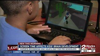 Screen time affects kids' brain development