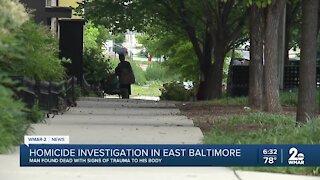 Homicide Investigation in East Baltimore