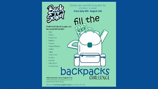 Fill the backpack challenge at DCFS