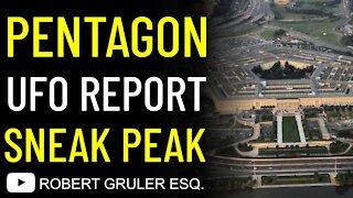 Pentagon UFO Report Sneak Peak