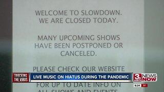 Live music on hiatus during coronavirus pandemic