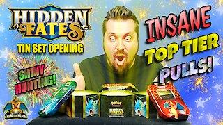⭐Insane Pulls⭐ Hidden Fates Tin Set #6 | Shiny Hunting | Pokemon Cards Opening