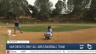 Mustangs all girl baseball team