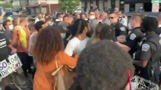 Protesters clash in North Buffalo
