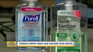 Local company makes hand sanitizing door handles