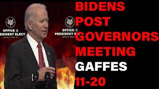 Joe Biden Gives Gaffe Filled Remarks After Governors Meeting.