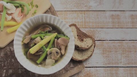Chicken Broth Mushrooms and Vegetables