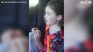 Little girl's hilarious reaction to a broken heart