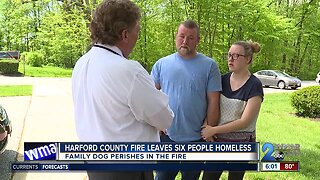 Harford County fire leaves six people homeless
