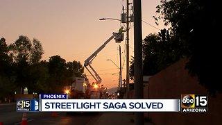 Street lights fixed after Phoenix community demands answers