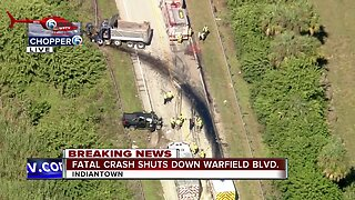 Deadly crash involving dump truck closes State Road 710 near Indiantown