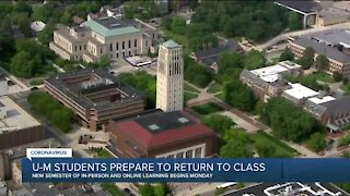 U of M students prepare to return to class amid COVID-19 pandemic