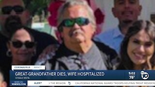 Family mourns COVID-19 death of Chula Vista great-grandfather as wife remains on ventilator