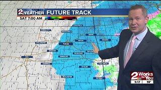 Rain chances tonight followed by colder air
