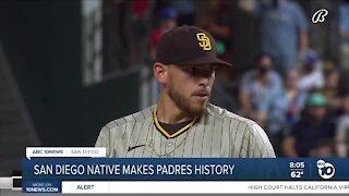 San Diego native make Padres history