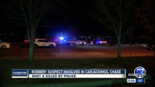 Denver officer fatally shoots carjacking suspect after string of robberies, police say