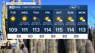 Scorching heat in the forecast