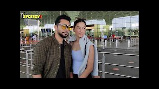 Gauahar Khan and Zaid Darbar snapped at the airport   SpotboyE