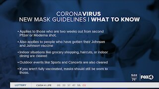 CDC changed mask guidelines