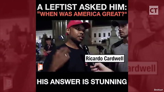 Lib Asks Man 'When Was America Great,' Gets 1 of Best Answers We've Ever Heard