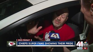 Chiefs super fans show their pride