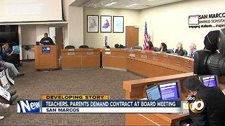 Teachers demand new contract from San Marcos School Board