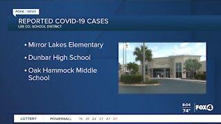 Three schools report cases of COVID-19