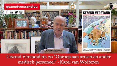 Voordracht Karel van Wolferen nr. 20: Oproep aan artsen en ander medisch personeel