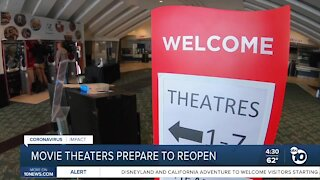 San Diego movie theaters prepare to reopen on Friday