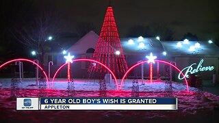 Make-A-Wish helps Appleton boy have Christmas light show