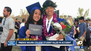 North County friends mourn college student killed in crash