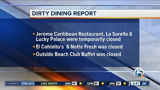 DIRTY DINING: Restaurants in Lake Worth, Delray and west Boca temporarily closed