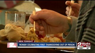 Woman celebrates first Thanksgiving after being incarcerated nearly two decades
