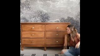 Woman Transforms Her Home From Top To Bottom Entirely On Her Own!