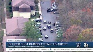 Officer shot during attempted arrest
