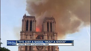 Paris vacationers react to devastating Notre Dame Cathedral fire