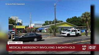 Sarasota police investigate medical emergency involving 3-month-old boy