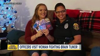 Clearwater Police visit woman fighting brain tumor