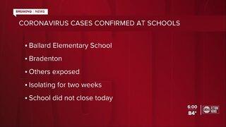 Coronavirus cases at 2 Manatee County schools
