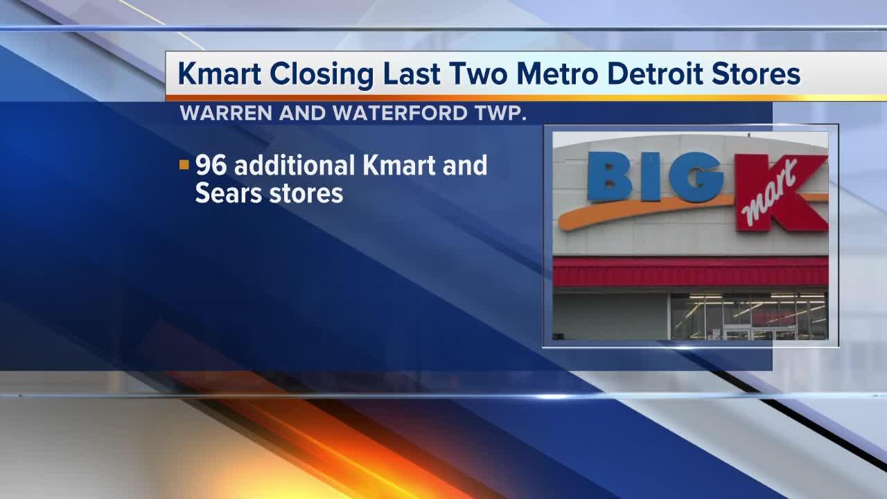 Kmart closing last 2 metro Detroit stores