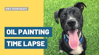 Painting a Dog - Oil Painting Time Lapse