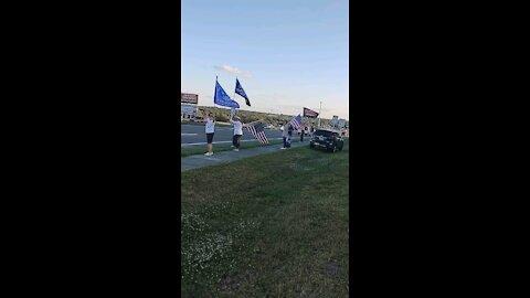 Patriots, Trump support