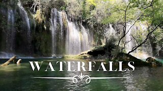 WATERFALLS - Calm Piano Music, Relax, Background Music, Instrumental Piano Music, Music to Study By