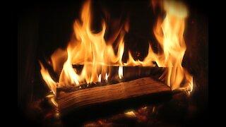 fireplace home rain