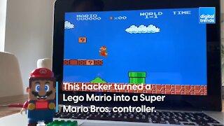 Lego Mario Hacked into a Controller