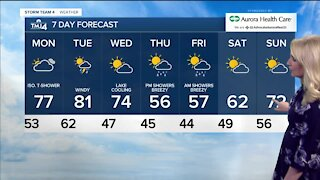Cool down on Sunday with chance for showers
