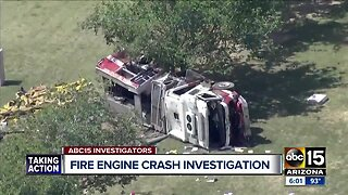 Investigation into deadly crash involving a Phoenix firetruck