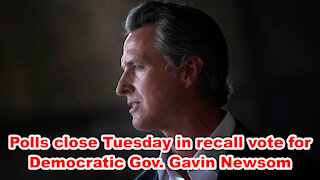 Polls close Tuesday in recall vote for Democratic Gov. Gavin Newsom - Just the News Now