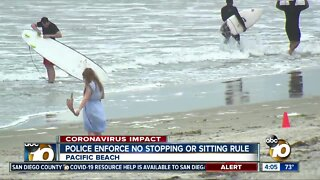 Police Enforce No Sitting, Stopping at beaches