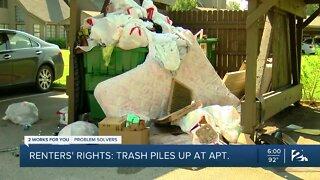 Renters' Rights: Trash piles high at south Tulsa apartment